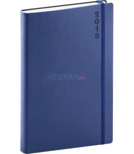 Denný diár Soft 2019, modrý, 15 x 21 cm