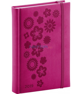 Denný diár Vivella Špeciál 2019, ružový, 15 x 21 cm