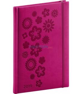 Týždenný diár Vivella Špeciál 2019, ružový, 15 x 21 cm