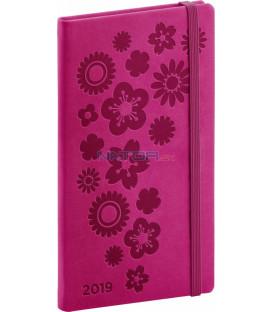 Vreckový diár Vivella Špeciál 2019, ružový, 9 x 15,5 cm