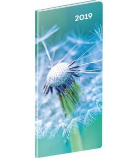 Vreckový diár Detail SK 2019, plánovací mesačný, 8 x 18 cm