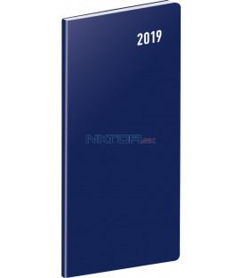 Vreckový diár Modrý SK 2019, plánovací mesačný, 8 x 18 cm