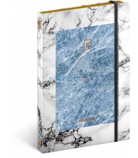 Týždenný diár Marble 2019, 13 x 21 cm