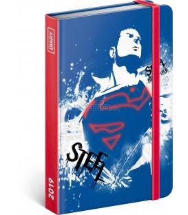 Týždenný diár Superman 2019, 10,5 x 15,8 cm