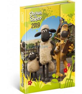 Týždenný magnetický diár Ovečka Shaun 2019, 10,5 x 15,8 cm
