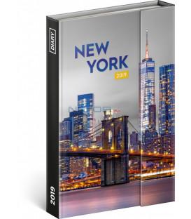 Týždenný magnetický diár New York 2019, 10,5 x 15,8 cm