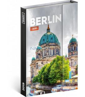 Týždenný magnetický diár Berlín 2019, 10,5 x 15,8 cm