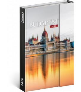 Týždenný magnetický diár Budapešť 2019, 10,5 x 15,8 cm