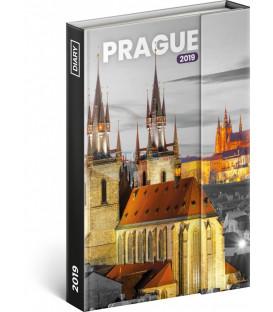 Týždenný magnetický diár Praha 2019, 10,5 x 15,8 cm