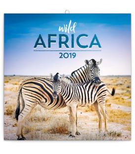 Poznámkový kalendár Divoká Afrika 2019, 30 x 30 cm