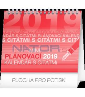 Stolový kalendár Plánovací s citátmi SK 2019, 16,5 x 13 cm