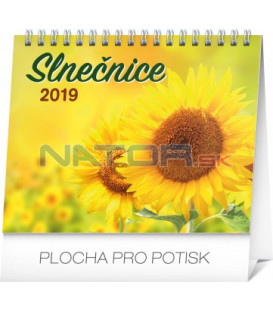 Stolový kalendár Slnečnice s citátmi SK 2019, 16,5 x 13 cm
