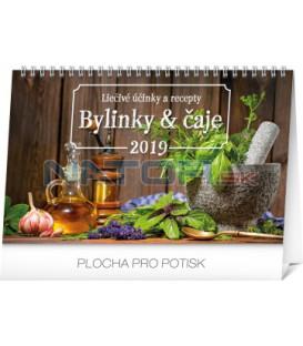 Stolový kalendár Bylinky a čaje SK 2019, 23,1 x 14,5 cm