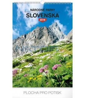 Nástenný kalendár Národné parky Slovenska SK 2019, 33 x 46 cm