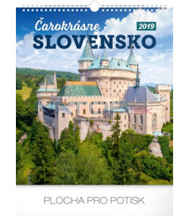 Nástenný kalendár Čarokrásne Slovensko SK 2019, 30 x 34 cm