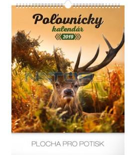 Nástenný kalendár Poľovnícky SK 2019, 30 x 34 cm