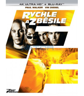 Rýchlo a zbesilo 2001 (The Fast and the Furious) 4K Ultra HD) - UHD Blu-ray + Blu-ray (SK OBAL)