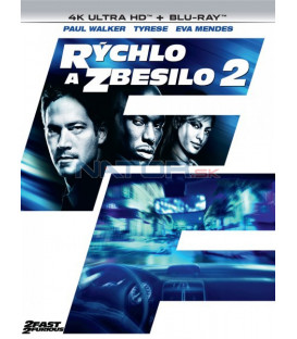 Rýchlo a zbesilo 2 - 2003 - (2 Fast 2 Furious) 4K Ultra HD) - UHD Blu-ray + Blu-ray (SK OBAL)