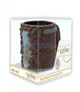 Hrnek Harry Potter - Příčná ulice 3D 500 ml