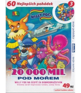Willy Fog - 20 000 mil pod mořem - 3 (Willy Fog in 20.000 Leagues under the Sea) DVD