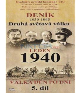 Deník - Druhá světová válka (5. díl) - leden 1940 (Second World War Diary (1939-1945) DVD