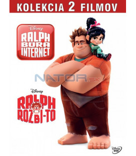 Raubíř Ralf + Raubíř Ralf a internet kolekce (Wreck-it Ralph + Ralph Breaks the Internet) DVD 2DVD