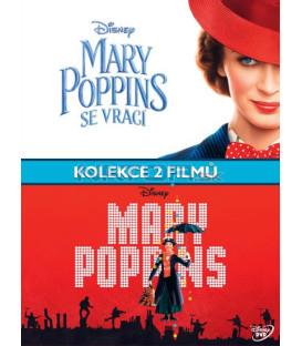 Mary Poppins kolekce (Mary Poppins (1964) + Mary Poppins Returns (2018) 3xDVD