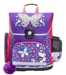 BAAGL Školská aktovka Motýľ