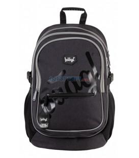 BAAGL Školský batoh Logo black
