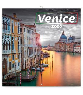 Poznámkový kalendár Benátky 2020, 30 x 30 cm