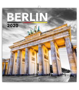 Poznámkový kalendár Berlín 2020, 30 x 30 cm