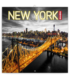 Poznámkový kalendár New York 2020, 30 x 30 cm