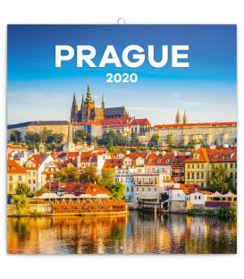 Poznámkový kalendár Praha letná 2020, 30 x 30 cm