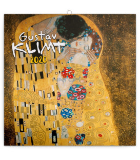 Poznámkový kalendár Gustav Klimt 2020, 30 x 30 cm