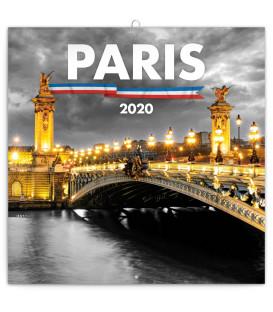 Poznámkový kalendár Paríž 2020, 30 x 30 cm