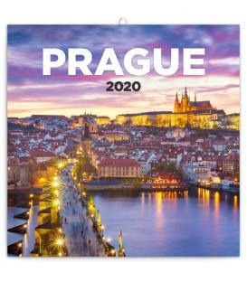 Poznámkový kalendár Praha nostalgická 2020, 30 x 30 cm