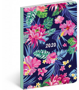 Ultraľahký diár Kvety 2020, 11 x 17 cm
