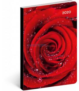 Ultraľahký diár Ruže 2020, 11 x 17 cm
