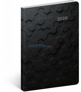 Ultraľahký diár Hexagón 2020, 11 x 17 cm