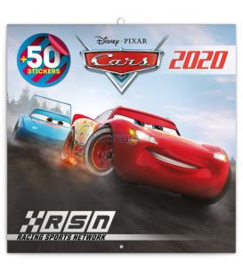 Poznámkový kalendár Autá 3 2020, s 50 samolepkami, 30 x 30 cm