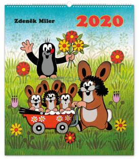 Nástenný kalendár Krtko 2020, 48 x 56 cm