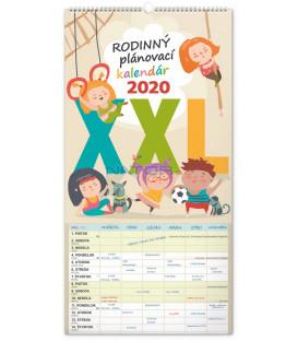 Nástenný kalendár Rodinný plánovací XXL SK 2020, 33 x 64 cm