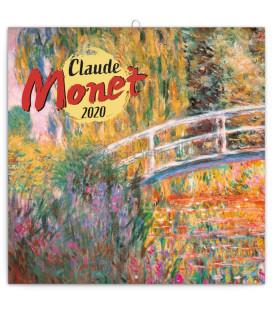 Poznámkový kalendár Claude Monet 2020, 30 x 30 cm