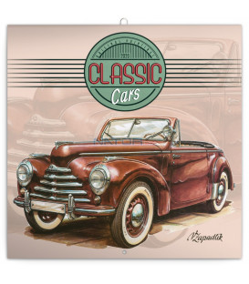 Poznámkový kalendár Classic Cars – Václav Zapadlík, 2020, 30 x 30 cm