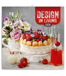 Poznámkový kalendár Design in Living 2020, 30 x 30 cm