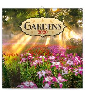 Poznámkový kalendár Záhrady 2020, 30 x 30 cm
