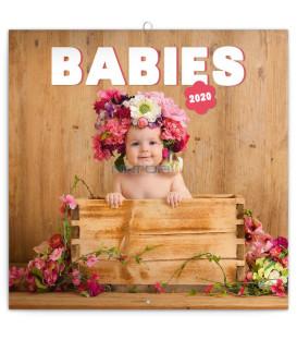 Poznámkový kalendár Babies – Věra Zlevorová 2020, 30 x 30 cm