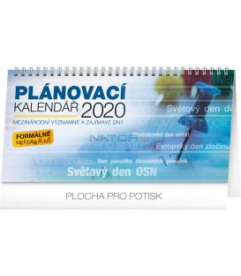 Stolní kalendář Plánovací se světovými dny CZ 2020, 25 x 12,5 cm