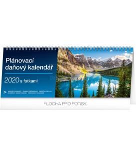 Stolní kalendář Plánovací daňový s fotkami CZ 2020, 33 x 12,5 cm