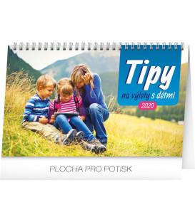 Stolní kalendář Tipy na výlety s dětmi CZ 2020, 23,1 x 14,5 cm